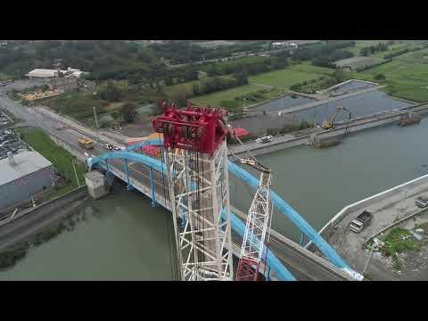 啟德機械起重工程-彰化大城段橋樑吊掛作業紀錄  LIEBHERR LR 1750 TEREX-DEMAG CC2500-1