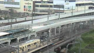 スカイライナー・都営・新京成・東武野田線.新鎌ヶ谷5車両同時交差