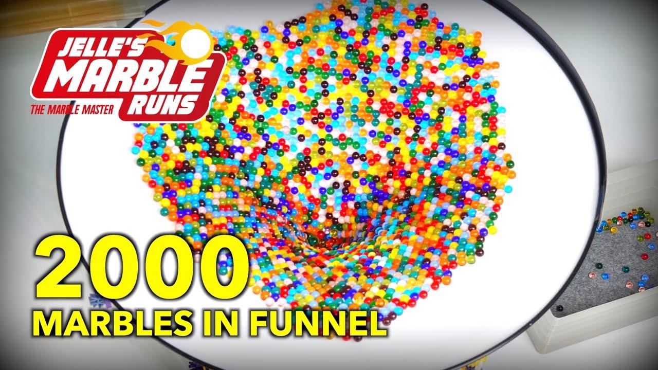 Satisfying ASMR Marble Run: 2000 marbles in big funnel