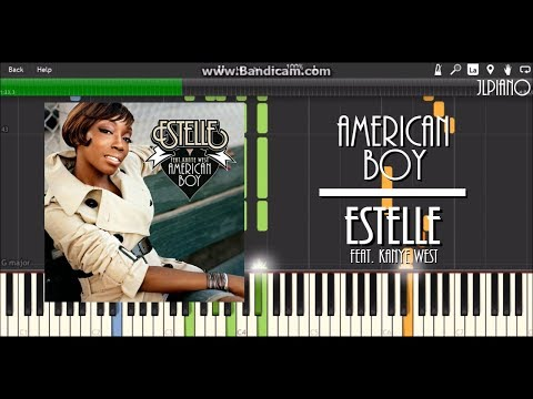 American Boy - Estelle ft. Kanye West (Synthesia Piano & Vocal Cover) *SHEET MUSIC*