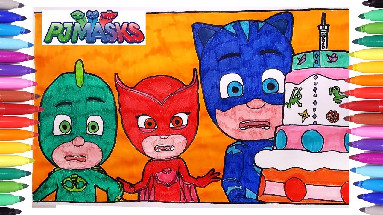 PJ MASKS COLORING PAGES FOR KIDS