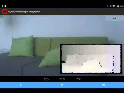 Project Tango and OpenCV for depth frame filtering