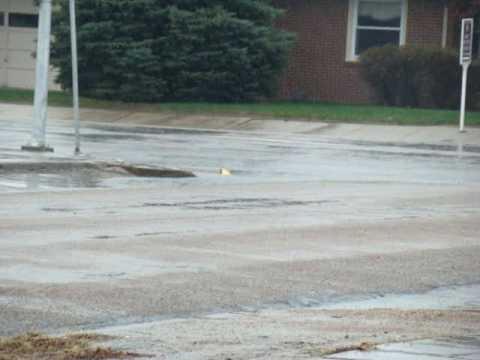 Rainy day in Scott City, Kansas