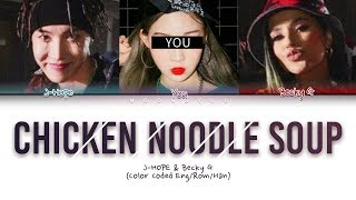 BTS J-Hope - Chicken Noodle Soup (feat. Becky G,You) (Color Coded Lyrics Eng/Rom/Han/Esp)