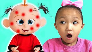 Miss Polly Had a Dolly  | Kids song & Nursery rhymes | Fantastic family pretend play 아픈 인형 아기 돌보기 놀이