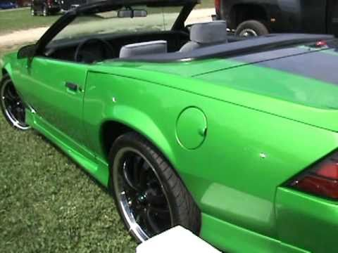 Wicked green convertible Iroc Z Camaro - YouTube