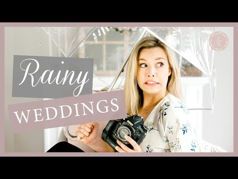 How to Photograph a Wedding in The Rain