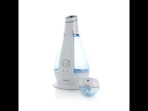 Homedics Ultrasonic Cool Mist Humidifier 2piece Combo Set Youtube