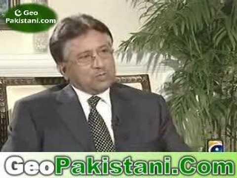 President Musharraf interview on GEO TV Part 1