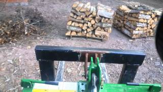 Moving Some Firewood With The Home Made Pallet Mover