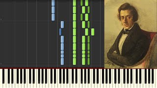 Chopin - Polonaise in G minor (Posthumous) - Piano tutorial (Synthesia)