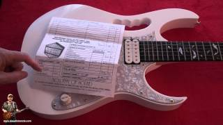 Download Close up Review of Ibanez JEM 7VWH Guitar Japanese Circa 1998 Review from tonymckenzie.com MP3 song and Music Video