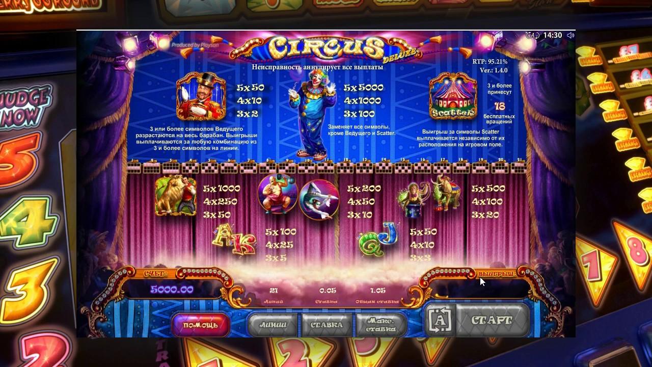 Игровые автоматы играть бесплатно цирк схема жгута описание игровые автоматы