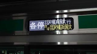【相鉄線】羽沢横浜国大行【ハエE233使用】