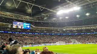 Champions League music & intro at Wembley - Spurs 3-0 Dortmund