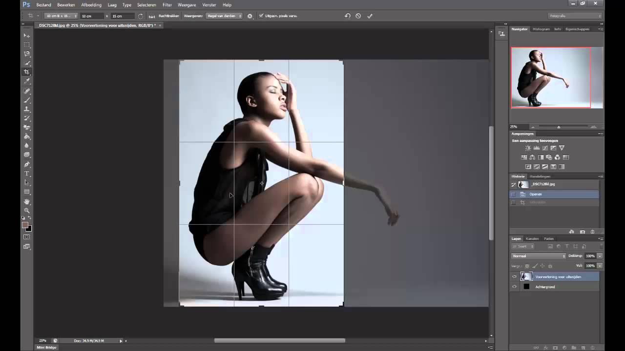 foto snijden photoshop
