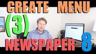 Newspaper 8 Theme Tutorial 2018 (Part 3) - How To Create Menu In Wordpress Admin 2018