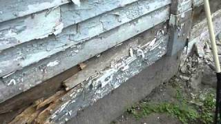 How to replace sills in an old house