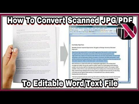 Edit/Modify Scan Document Paper