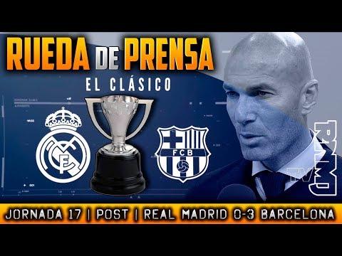 Real Madrid 0-3 Barcelona Rueda de prensa de Zidane (23/12/2017) | POST LIGA JORNADA 17