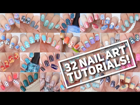 32 NAIL ART TUTORIALS! | Nail Art Design Compilation #2