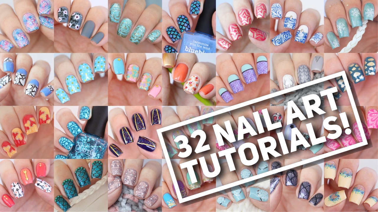 32 nail art tutorials nail art design compilation 2 youtube nail art design compilation 2 youtube prinsesfo Choice Image
