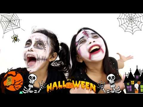 FUNNY HALLOWEEN MAKE UP CHALLENGE FOR KIDS ♥ FACE PAINT