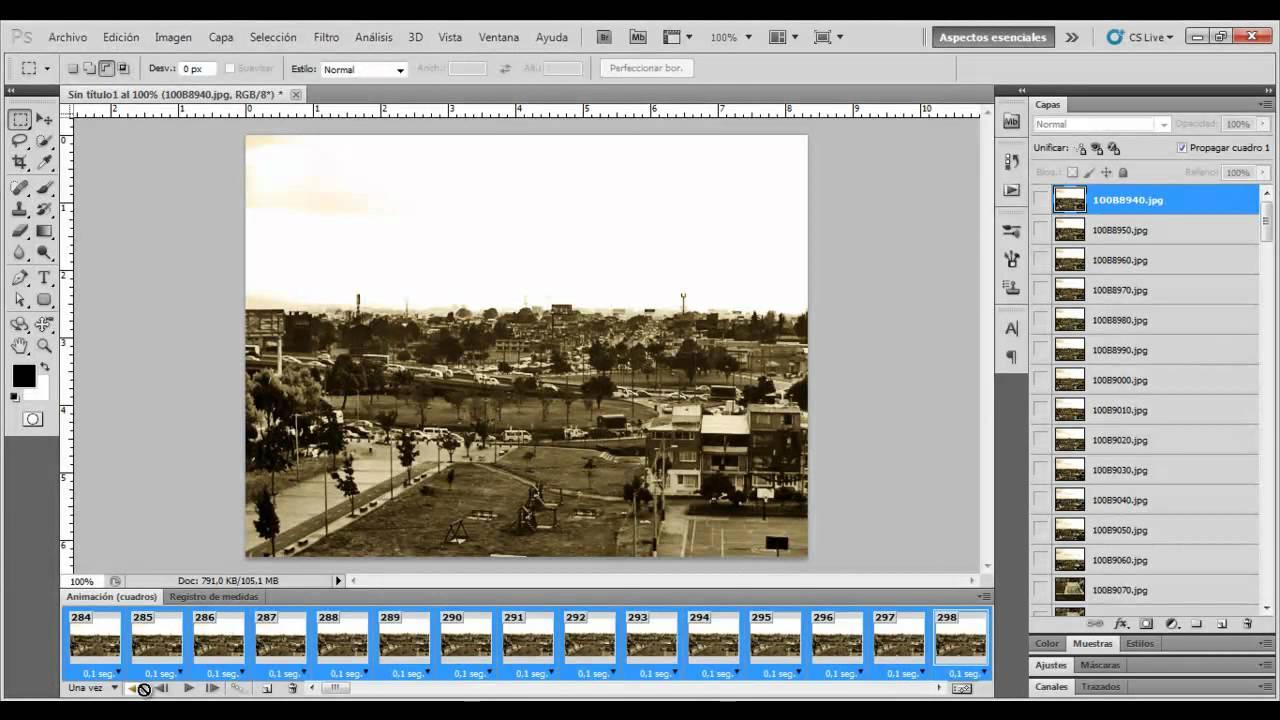 Animacion en Photoshop-Fotogramas - 02 - YouTube