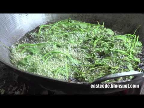 crispy deep fried Pennywort Inya lake Yangon Myanmar