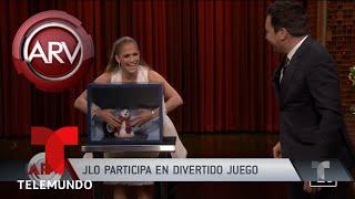 Jlo participó en divertido juego en show de Jimmy Fallon | Al Rojo Vivo | Telemundo