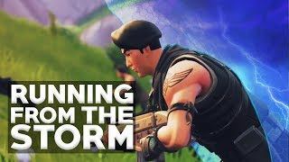 BIGGEST CLUTCH RUNNING FROM THE STORM - Fortnite Battle Royale Funny Moments