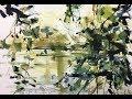 Ekspressiv naturmaleri akvarel og blyant