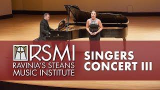 Singers Concert III: Ravinia's Steans Music Institute, 2018