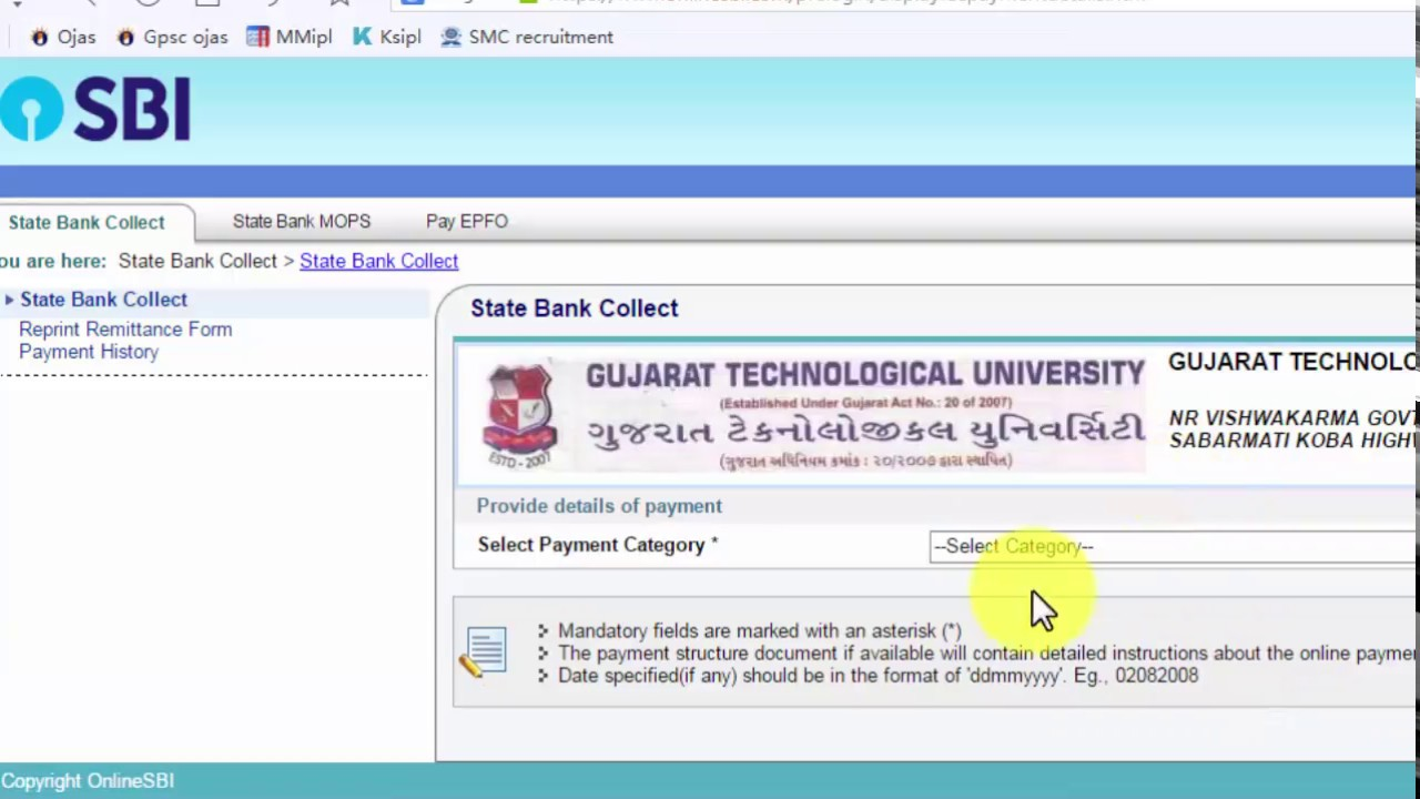 How to fill GTU Convocation 2017 form step by step