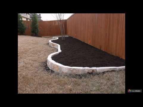 Как красиво огородить клумбу