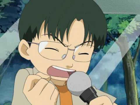 Kenta beim Karaokesingen :D (Digimon Tamers)