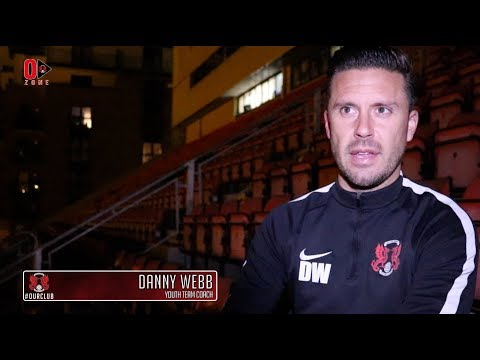 REACTION: Youth Team Coach Danny Webb following the O's FA Youth Cup victory at home to Sholing