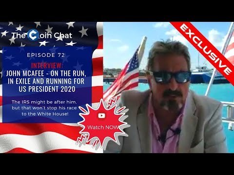 ▶️ Interview with John McAfee ◀️On the Run, in Exile and Running for US President 2020