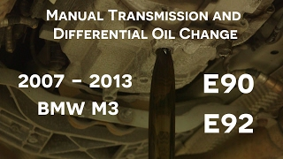 e90/e92 BMW M3 Manual Transmission and Differential Oil Change How-to