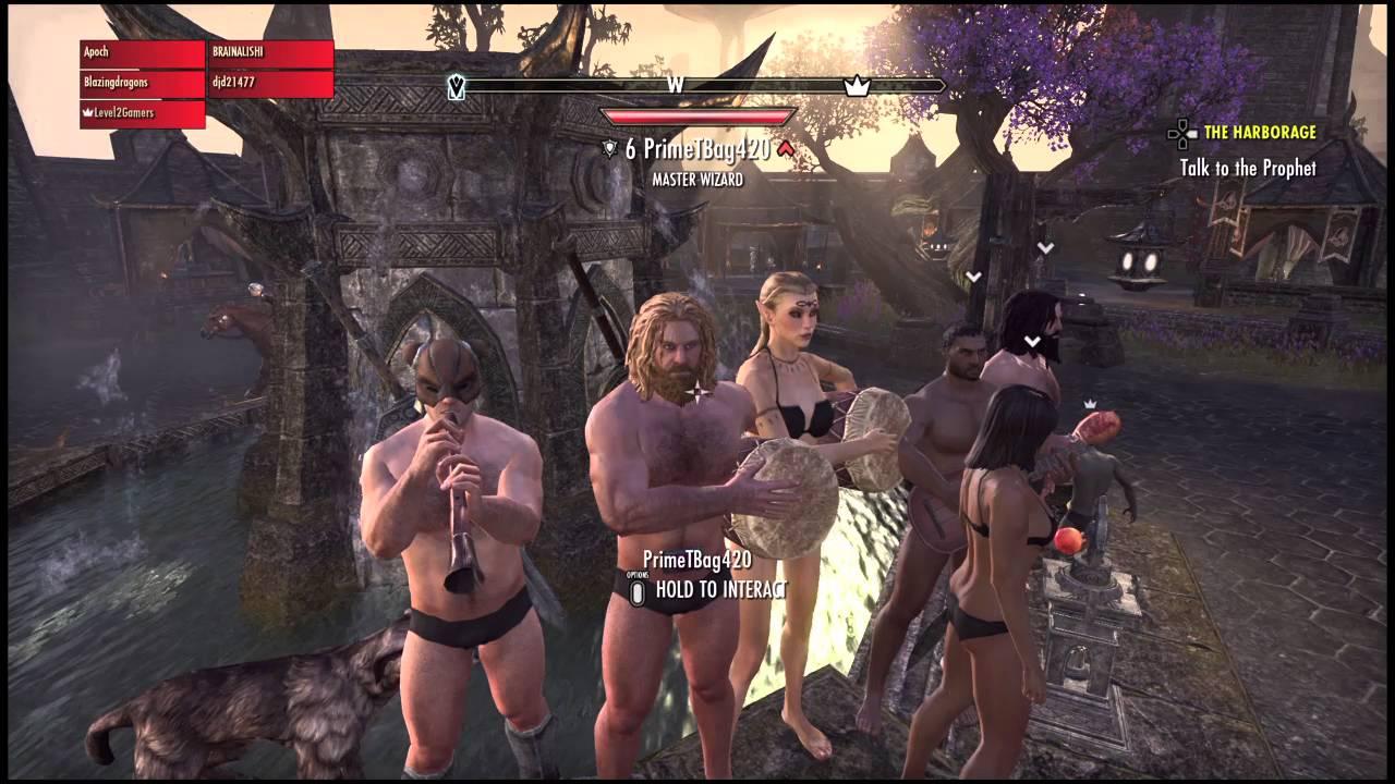 Elder scrolls online, The naked Dance Party - YouTube