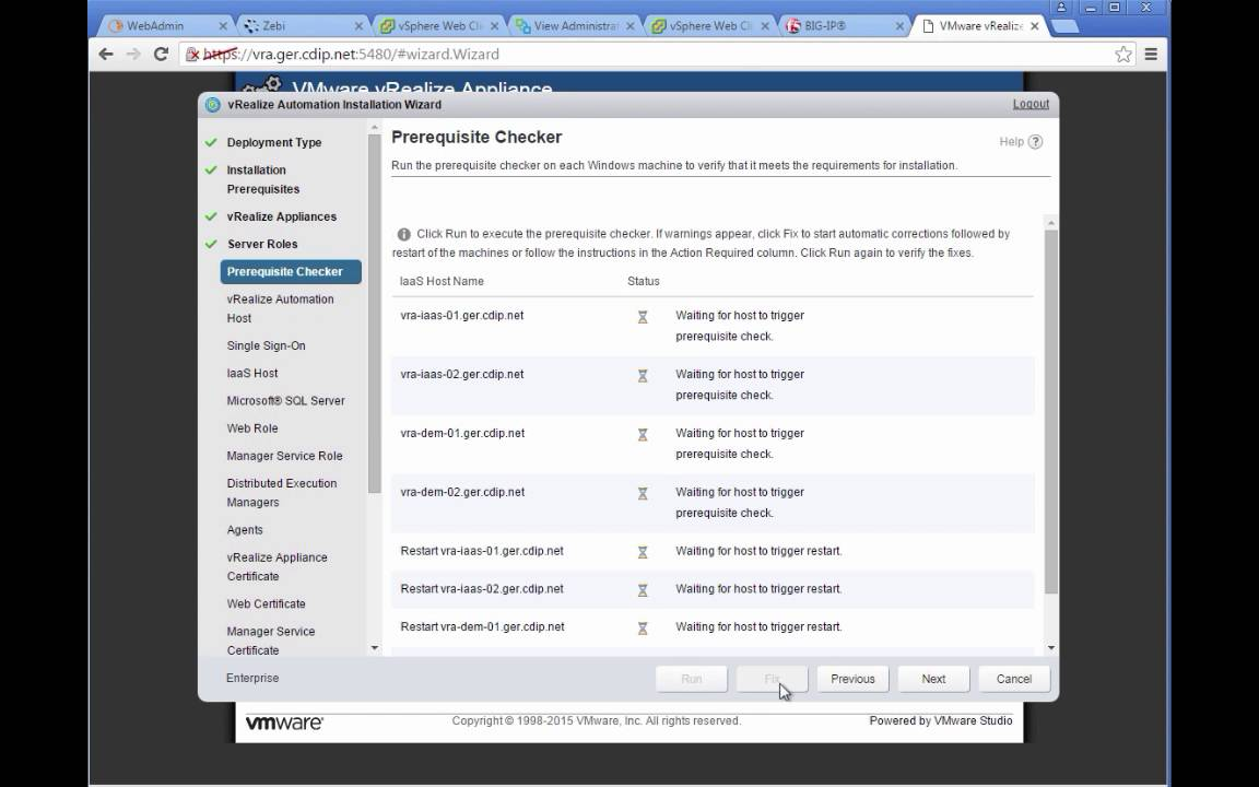 vRealize Automation 7 Distributed / HA / Enterprise Install