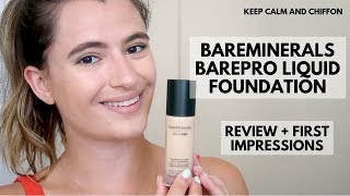 BAREMINERALS BAREPRO FOUNDATION REVIEW + FIRST IMPRESSIONS | SHADE 06 CASHMERE