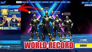FIRST LEVEL 100 FORTNITE SEASON 10 WORLD RECORD! [7Days] TuToTV
