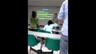 Girl goes crazy in class
