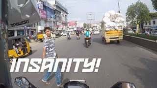 Riding the craziest streets of India on a bike you haven