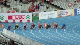 Championnats d'Europe d'athlétisme 2010, finale 100m homme - HD