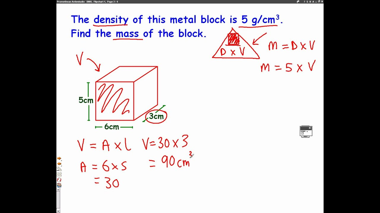 How Are Density Mass And Volume Related Example