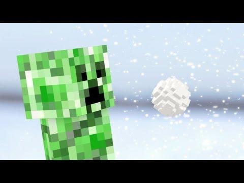 Minecraft в реальной жизни: Снежки с Крипером