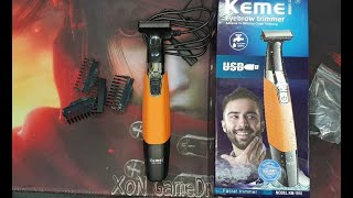 Kemei KM-1910 Electric Shaver Razor Body Trimmer unBoxing and Demo Beard - Aliexpress