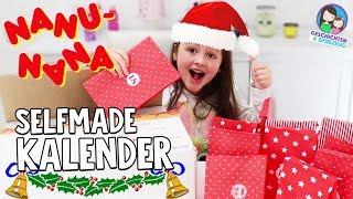 DIY Adventskalender Box für Kinder von NANU NANA 🎁 24 tolle Geschenke 🎁Geschichten und Spielzeug